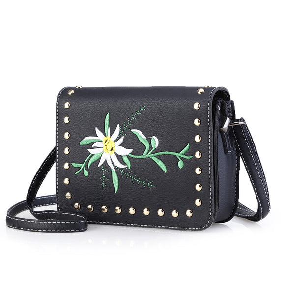 Summer Flower Stitched Bag