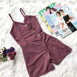 Button Detailed Romper