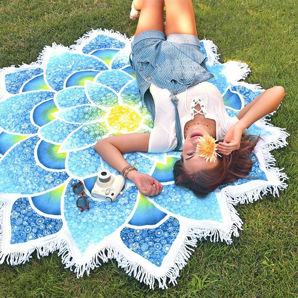 Beach Mat - Jema Blue