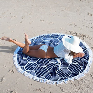 Beach Mat - Blue Lines