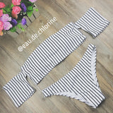 Darcie Vintage Off Shoulder Two Piece Swimsuit