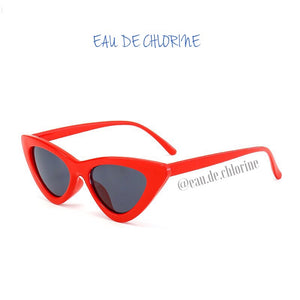 Red Retro Cat Eye Sunglasses