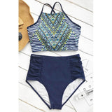 Pebble Highwaist Two Piece Swimsuit