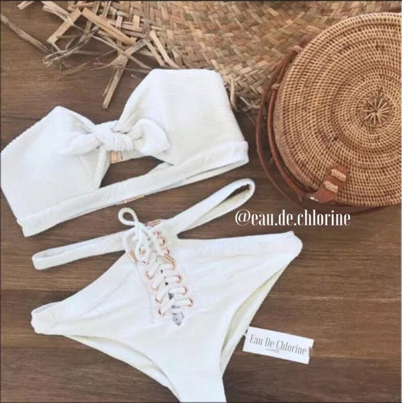 Yorkie White Swim Set
