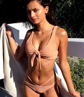 Venice Peach Two Piece Swimsuit