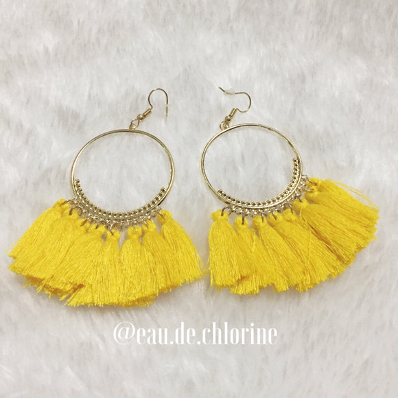 Tassel Earrings in Sunny Yellow