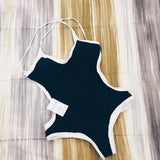 Gray Pipe/Black Pipe One Piece Swimsuit