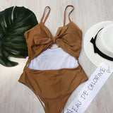 Mirea Tie Front Style One Piece Swimsuit