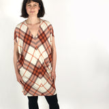 Cocoon dress plaid