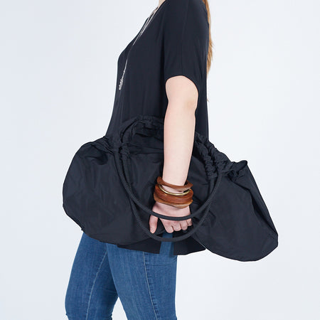 Tote Bag with Round Pocket