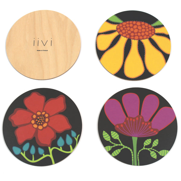 iivi designed coaster set with back view