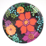 Round Wooden Tray with Multicolor Flower pattern from iivi