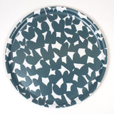 Round Wooden Tray with Blue Kiss pattern from iivi