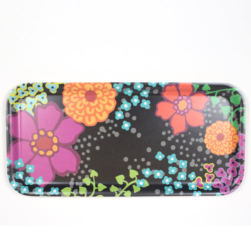 Multicolor flower small wooden tray by iivi