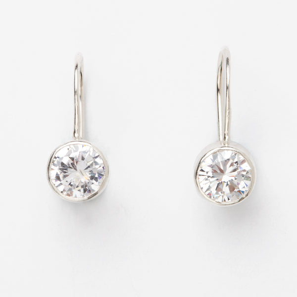 DIAMOND CUT CUBIC ZIRCONIA EARRINGS