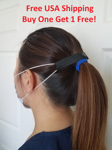 "The Most Comfortable ""Elastic Mask Strap"" (Black), Buy one get 1 free, Free USA Shipping"