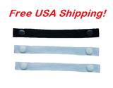 "The Most Comfortable ""Bra Strap Holder"" You'll Ever Have. (3-Pack: 2 White and 1 Black), Free USA shipping"