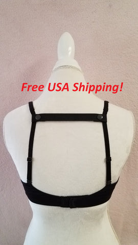 The Most Comfortable Bra Strap Holder (Black)
