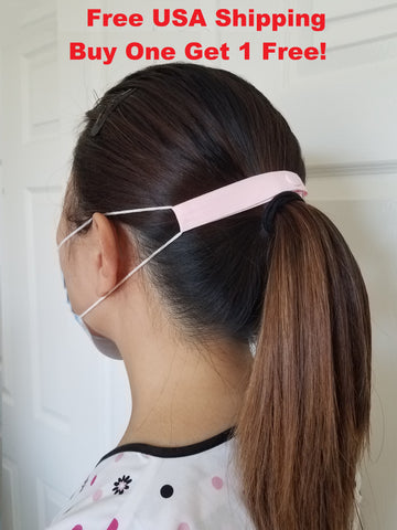 "The Most Comfortable ""Elastic Mask Strap"" (Pink), Buy one get 1 free, Free USA Shipping"