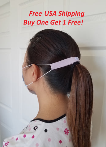 "The Most Comfortable ""Elastic Mask Strap"" (Purple), Buy one get 1 free, Free USA Shipping"