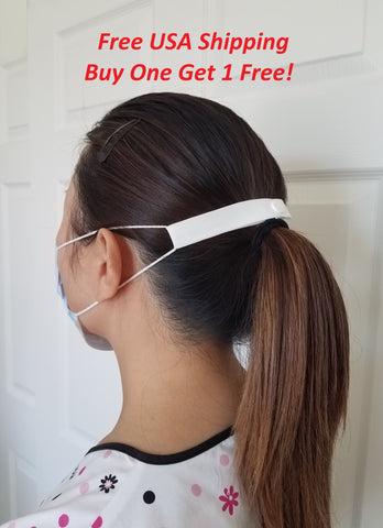 "The Most Comfortable ""Elastic Mask Strap"" (White), Buy one get 1 free, Free USA Shipping"