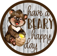 Round Beary Happy Day