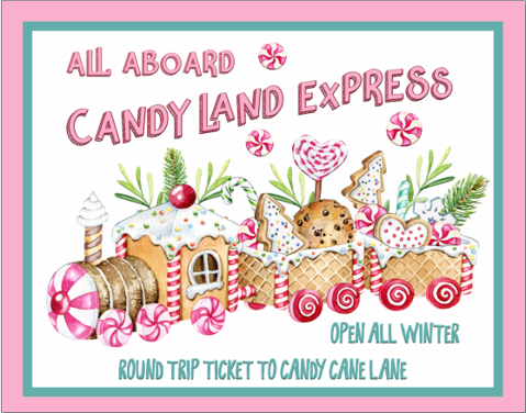 All Aboard The Candy Land Express