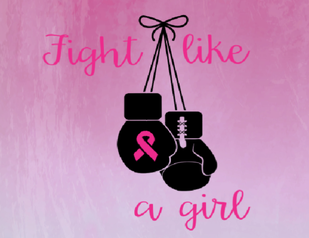 Fight like a girl breast cancer sign, breast cancer sign. Fight like a girl sign