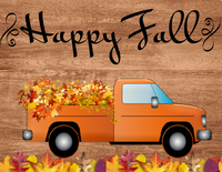 Happy Fall Truck Sign