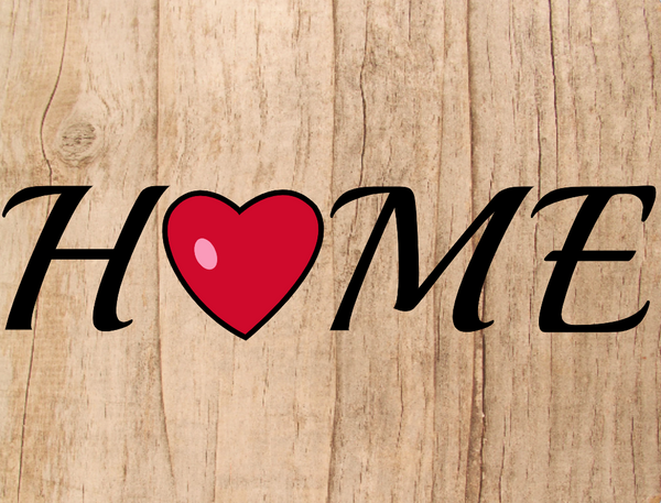Heart Home sign
