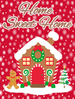 Home Sweet Home Gingerbread house sign