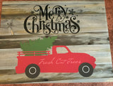 Merry Christmas Truck Sign- Fresh Cut shiplap