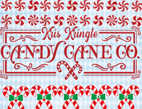 Kris Kringle Candy Sign, Candy Christmas Sign