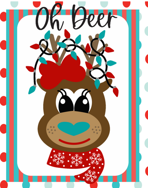 Oh Deer Christmas Sign