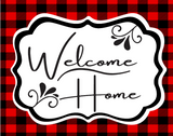 Red and Black plaid Welcome Home Everyday wreath kit