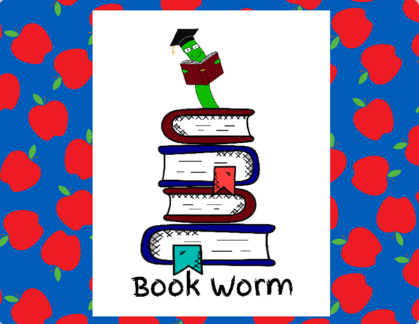 Book Worm teacher sign