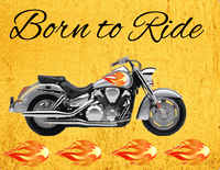 Born to ride motorcycle sign