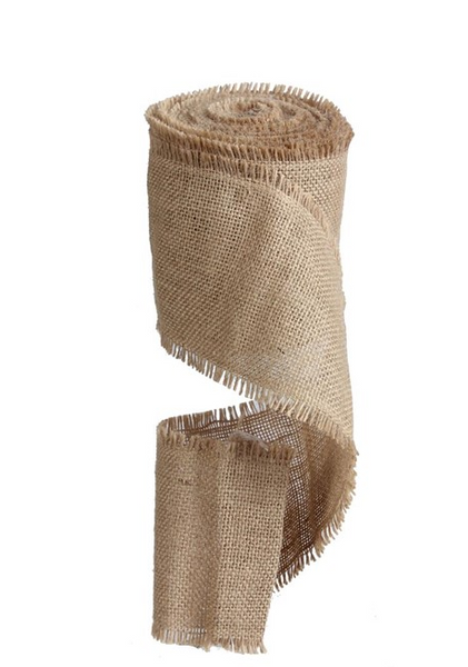 4in frayed edge burlap