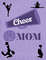 Cheer mom sign, Purple Cheer mom sign