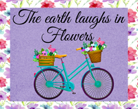 The earth laughs in flowers sign