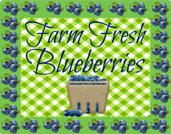 Blueberry sign- Farm fresh blueberries