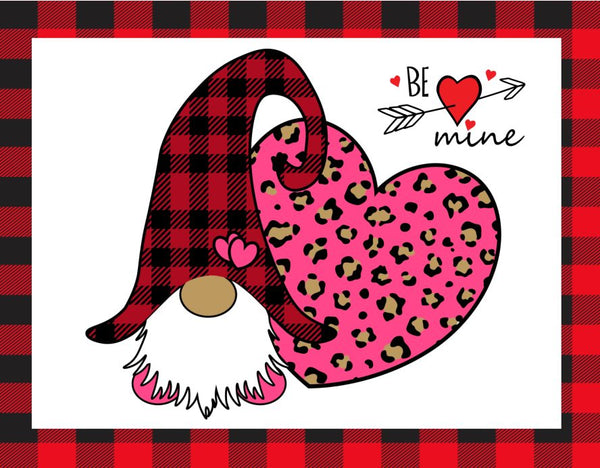 Be Mine Leopard Gnome Heart
