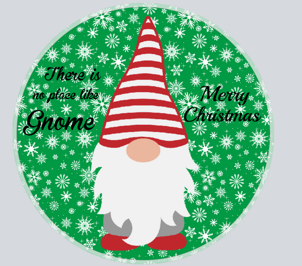 Gnome sign,  Round Merry Christmas Gnome