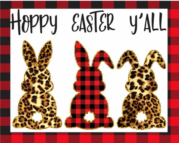 Hoppy Easter Plaid Bunnies