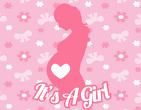 It's a girl sign - Mom silhouette