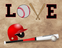 Love of Baseball sign