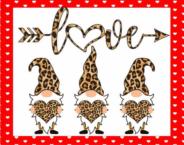 Love Leopard Gnomes Sign