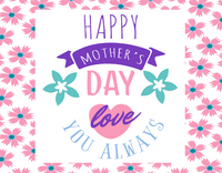 Happy Mothers Day Pink and Blue