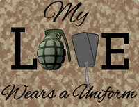 My Love wears a uniform sign