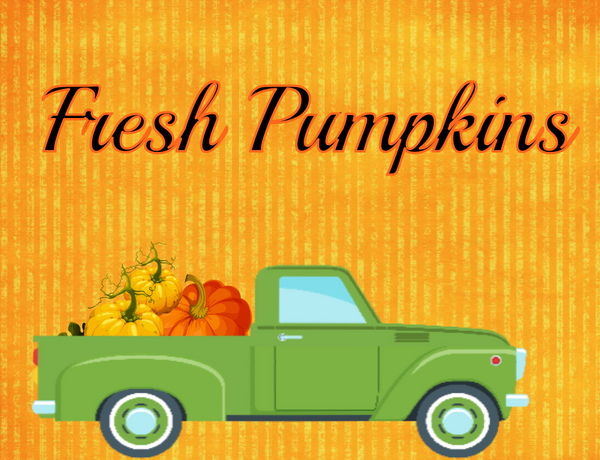 Fresh Pumpkins sign